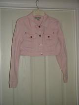 Street Blues Stretch Light Pink Jacket Size L Juniors image 2
