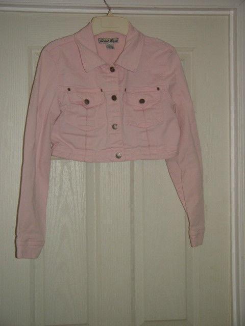 Street Blues Stretch Light Pink Jacket Size L Juniors image 4