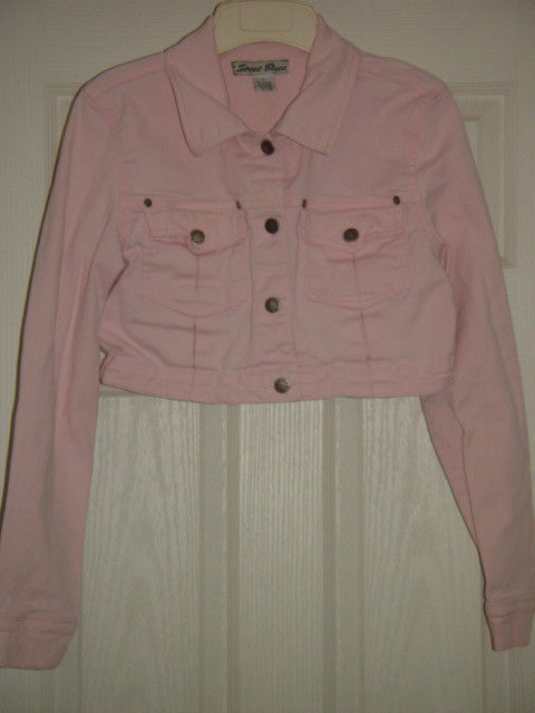 Street Blues Stretch Light Pink Jacket Size L Juniors image 6