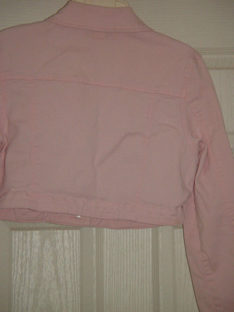 Street Blues Stretch Light Pink Jacket Size L Juniors image 8