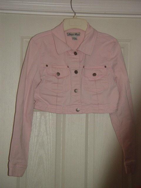 Street Blues Stretch Light Pink Jacket Size L Juniors image 5