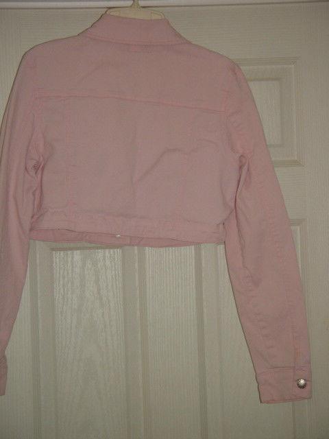 Street Blues Stretch Light Pink Jacket Size L Juniors image 7