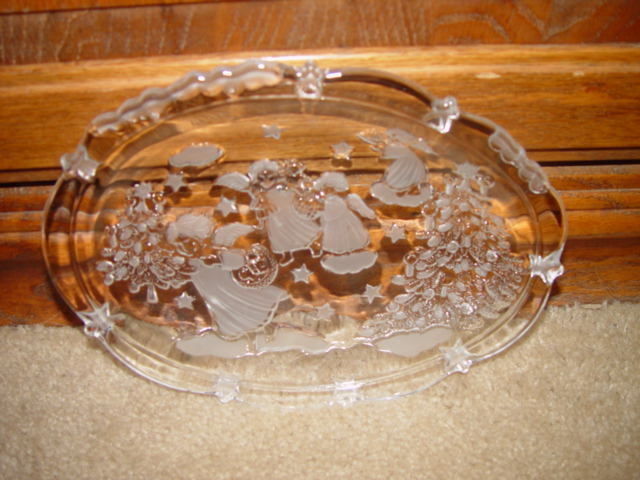 Clear Angles Plate W/ Christmas Tree And Stars image 2