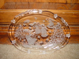 Clear Angles Plate W/ Christmas Tree And Stars image 3