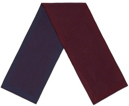 NEW GUCCI CURRENT DOUBLE JACQUARD GG WOOL BORDEAUX NAVY BLUE SCARF UNISEX - $210.36