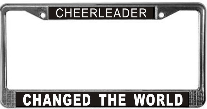 Primary image for Cheerleader Occupy Wall Street License Plate Frame (Stainless Steel)