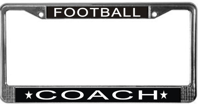 Primary image for Football Coach License Plate Frame (Stainless Steel)