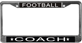 Football Coach License Plate Frame (Stainless Steel) - $13.99