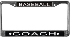 Baseball Coach License Plate Frame (Stainless Steel) - $13.99