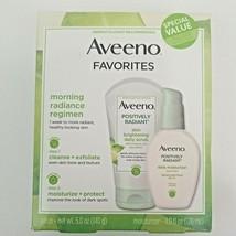 Aveeno Positively Radiant Daily Scrub 5 Oz & Moisturizer 4 Oz Exp 02/22  - $15.50