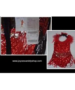 Curtain Call Costume Dancer Sequined Red Women Sz ASM (32-35 Bust) - $21.99