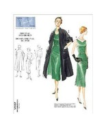 Vogue 1137 New Retro Pattern Size 8 to 14 Original 1950 Design Dress and Coat - $9.95