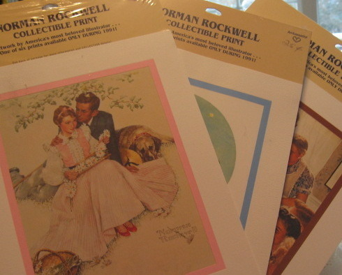Primary image for  Norman Rockwell Collectible Prints - Ltd Edition -Hallmark-Ambassador-Set of 3