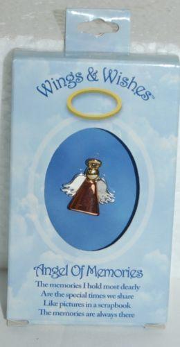 DM Merchandising Wings Wishes Memories Angel Bronze Body Silver Wings Gold Halo