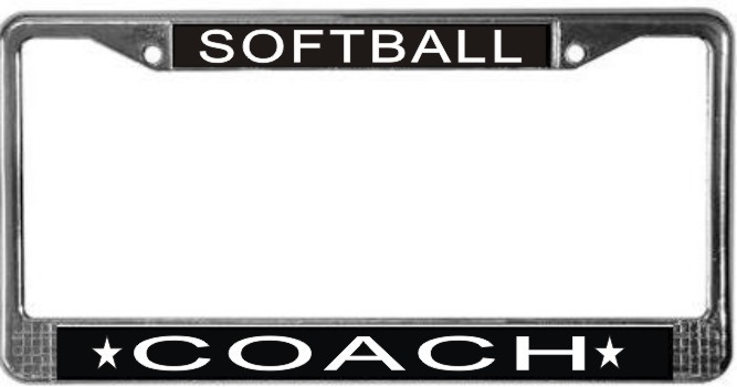 Primary image for Softball Coach License Plate Frame (Stainless Steel)