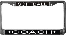 Softball Coach License Plate Frame (Stainless Steel) - $13.99