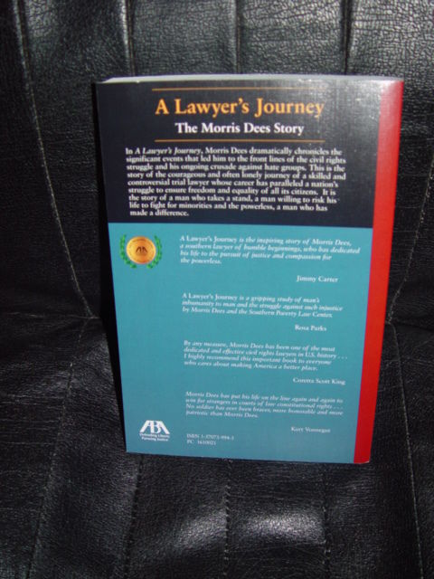 A Lawyer's Journey  The Morris Dees Story by Morris Dees 2001 Paperback image 4