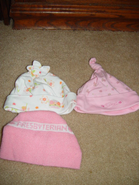 Carter's 3 Months 8-12 Lbs  & Oshkosh One Size Hats Set of 3