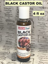 AFRICAN ANGEL BLACK CASTOR OIL WITH 100% PURE WITH VITAMIN E, PANTHENOL  4OZ