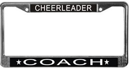 Cheerleader Coach License Plate Frame (Stainless Steel) - $13.99