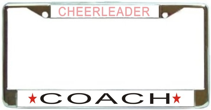 Primary image for Cheerleader Coach License Plate Frame (Stainless Steel)