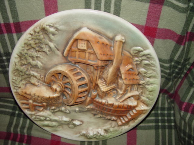 Water Wind Mill Plate Unknow Name MayBe HandMade image 4