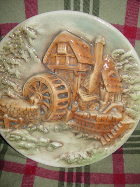 Water Wind Mill Plate Unknow Name MayBe HandMade