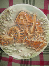 Water Wind Mill Plate Unknow Name MayBe HandMade image 1