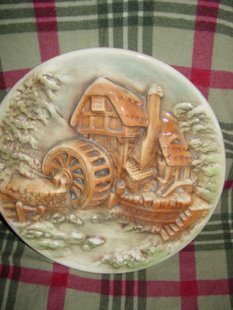 Water Wind Mill Plate Unknow Name MayBe HandMade image 2