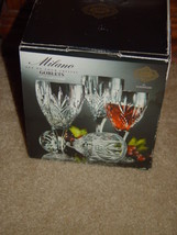 Milano Set Of 4 Shannon Crystal Goblets 24% Lead Crystal By Godiner image 1