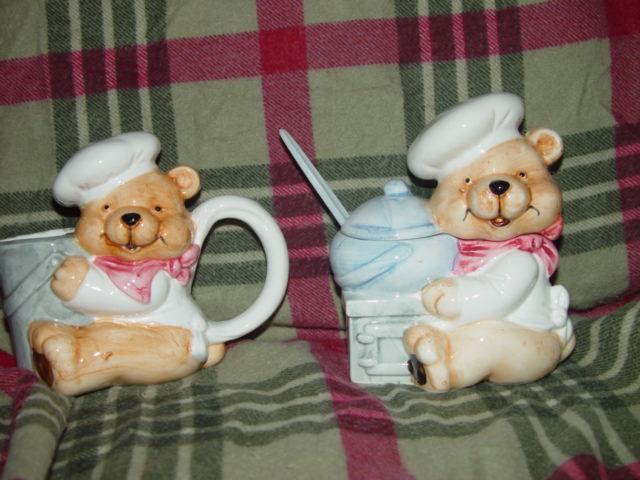 HomeTrends Chef Bear Sugar And Creamer