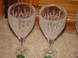Milano Set Of 4 Shannon Crystal Goblets 24% Lead Crystal By Godiner image 3
