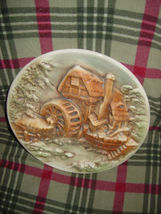 Water Wind Mill Plate Unknow Name MayBe HandMade image 7