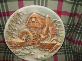 Water Wind Mill Plate Unknow Name MayBe HandMade image 6