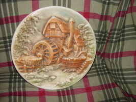 Water Wind Mill Plate Unknow Name MayBe HandMade image 5