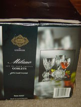 Milano Set Of 4 Shannon Crystal Goblets 24% Lead Crystal By Godiner image 5
