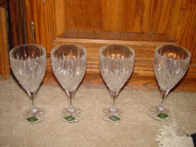 Milano Set Of 4 Shannon Crystal Goblets 24% Lead Crystal By Godiner image 6