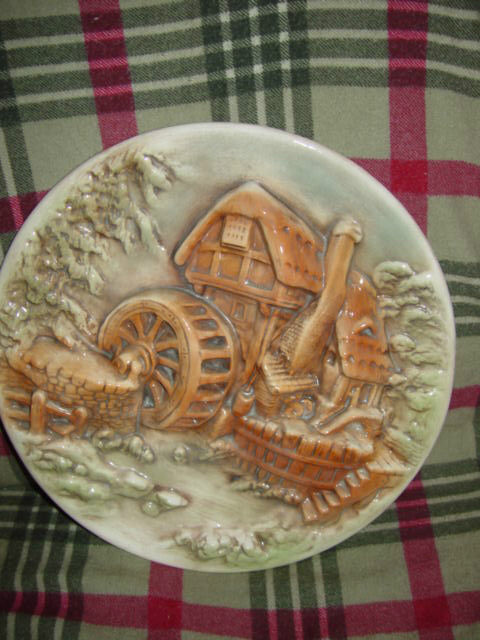 Water Wind Mill Plate Unknow Name MayBe HandMade image 9