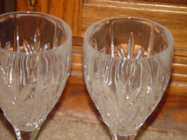 Milano Set Of 4 Shannon Crystal Goblets 24% Lead Crystal By Godiner image 8