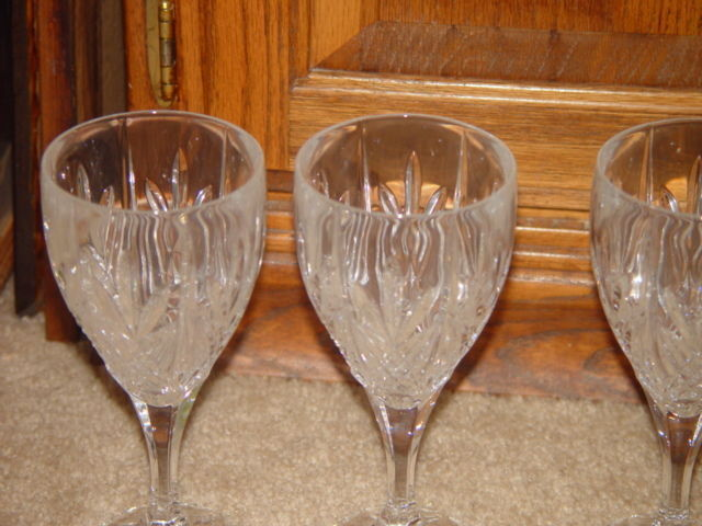Milano Set Of 4 Shannon Crystal Goblets 24% Lead Crystal By Godiner image 9