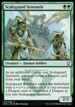 Magic The Gathering-Dragons of Tarkir-Scaleguard Sentinels  - $0.19