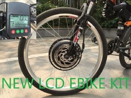 48V 500W F ELECTRIC Bicycle Conversion Motor Kits DISC LCD PAS EBIKE Cyc... - $332.01