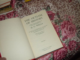 The Outline of History by Daniel Olson and H. G. Wells  Volume 1  1956 Hardcover image 2