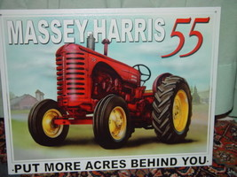 Tin Sign Massey-Harris 55 Put More Acres Behind You image 1