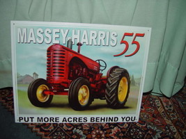 Tin Sign Massey-Harris 55 Put More Acres Behind You image 3