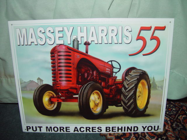Tin Sign Massey-Harris 55 Put More Acres Behind You image 5