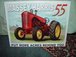 Tin Sign Massey-Harris 55 Put More Acres Behind You image 6