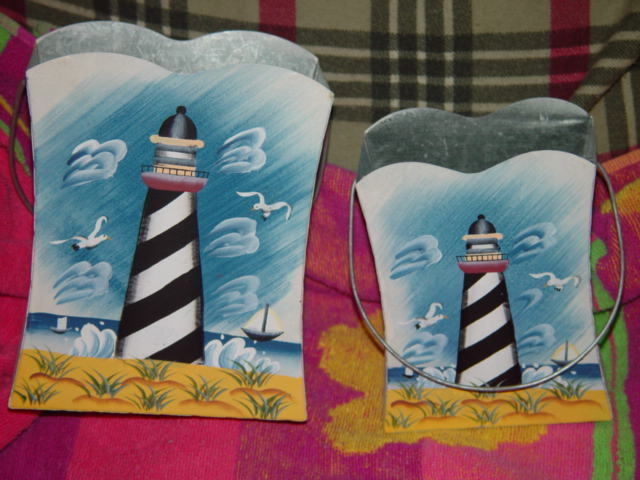Set of 2 LightHouse Tin With Handle image 2