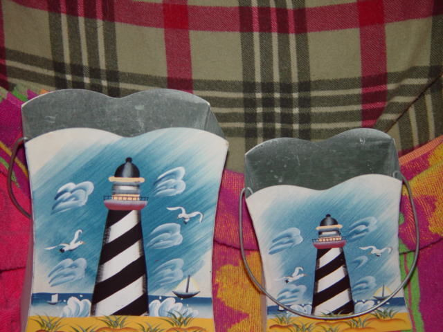 Set of 2 LightHouse Tin With Handle image 4