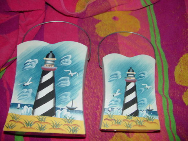 Set of 2 LightHouse Tin With Handle image 5